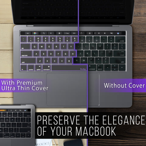 Premium Ultra Thin Keyboard Cover TPU for MacBook Pro 13 and 15 inch