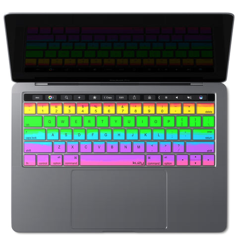 RAINBOW - Keyboard Cover for MacBook Pro with Touch Bar