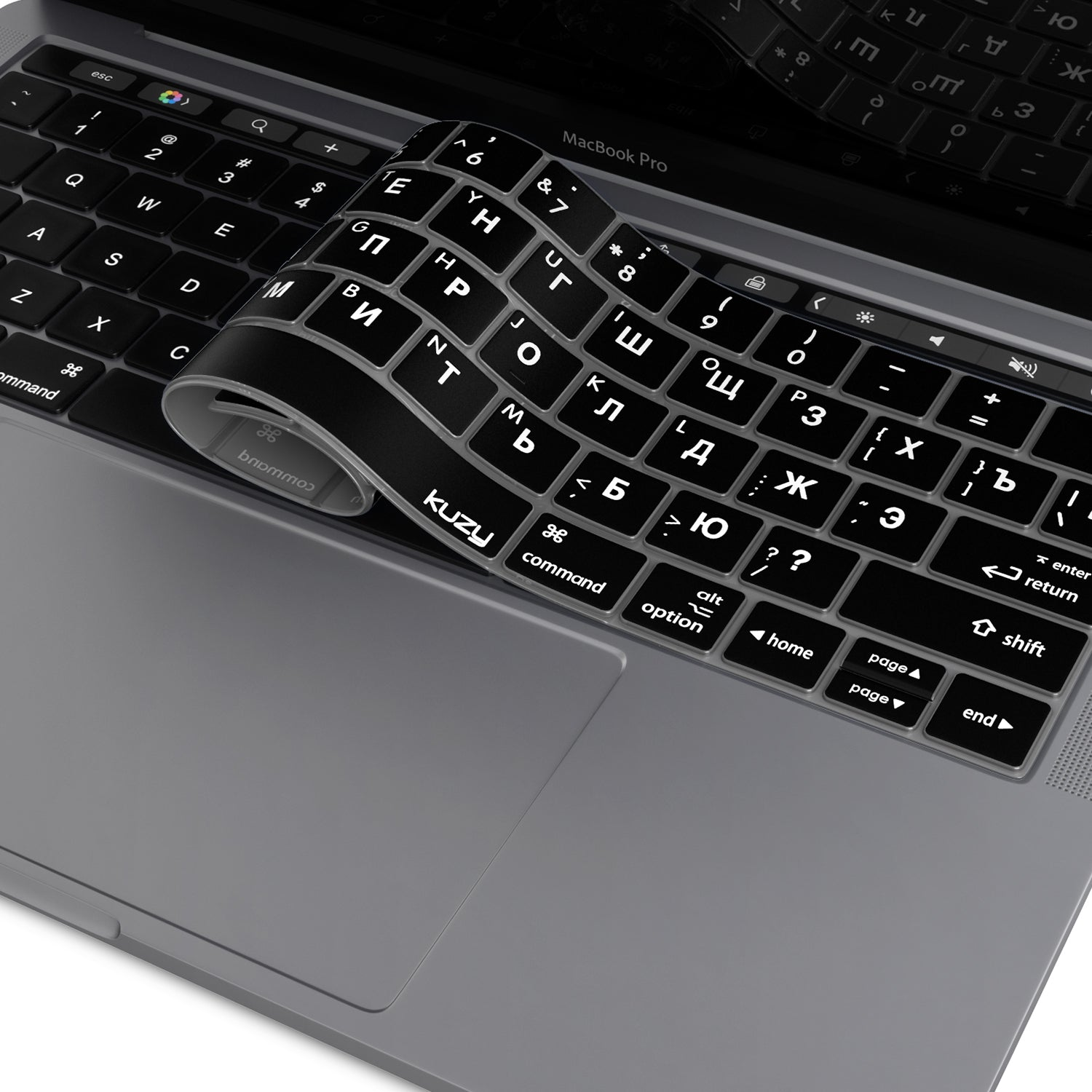 Russian U.S Edition Silicone Keyboard Cover Skin for MacBook pro13 inch A1708 for MacBook 12 A1534 Retina-Black