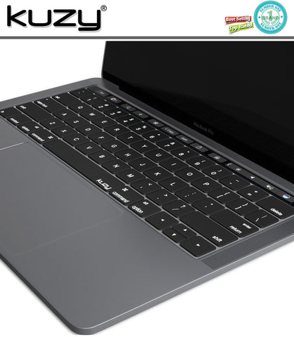 "Black - Keyboard Cover for 2016  MacBook Pro 13"" A1706 & MacBook Pro 13"" A1707 (with Touch Bar) Silicone Skin"