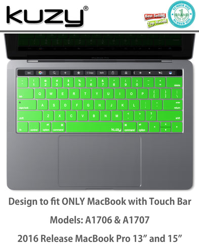 "Keyboard Cover for MacBook Pro 13"" & 15"" w/ Touch-Bar (all Colors)"
