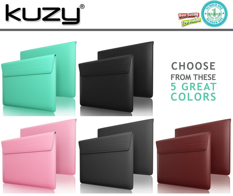 "Leather Sleeve Case for MacBook Pro 12"" and 12 inch Laptops"
