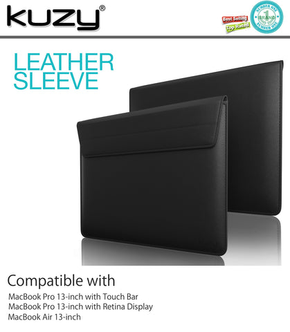 "12-inch Leather Sleeve Case for MacBook 12"" and 12 inch Laptops"