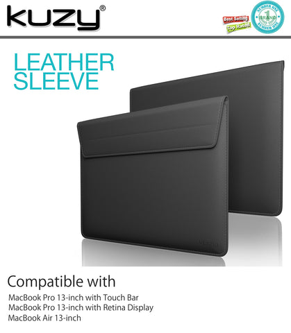"13"" Leather Sleeve Case for MacBook Pro 13"" and 13"" Laptops"