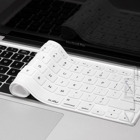 "Solid - Keyboard Cover Skin Silicone for MacBook Pro 13"" 15"" 17"" and Air 13.3"""