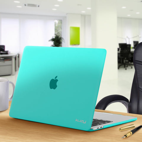 MacBook Pro 15 inch Case 2019 2018 2017 2016 Release A1990 A1707, Kuzy Hard Plastic Shell Cover for Newest MacBook Pro 15 case with Touch Bar Soft Touch - Teal
