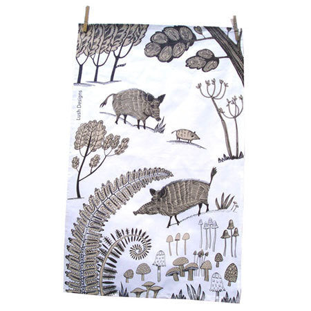 Lush Designs Wild Pig Tea Towel