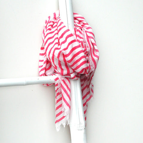 Peace Of Mind Pink Stripe Scarf