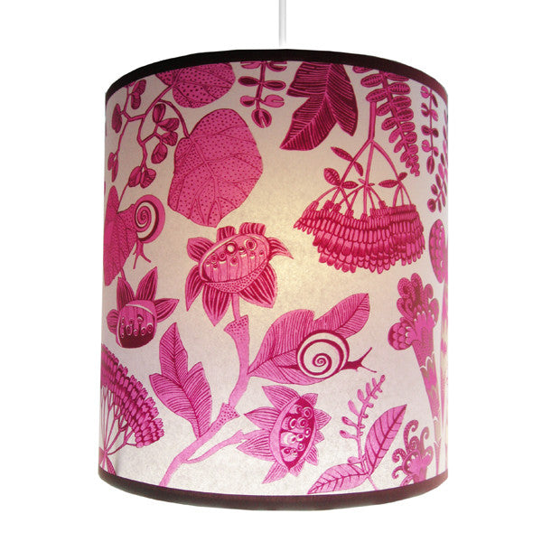 Lush Designs Flowers & Snails Lampshade Pink