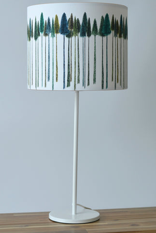 A Northern Light Green Trees Lampshade