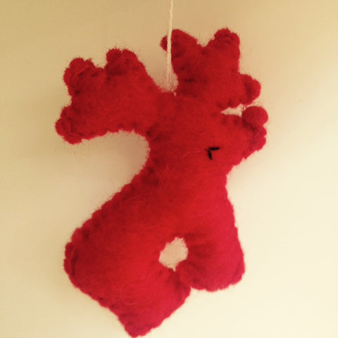 Amica Reindeer Felt Decoration