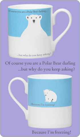 Repeat Repeat Polar Bear Mug Blue