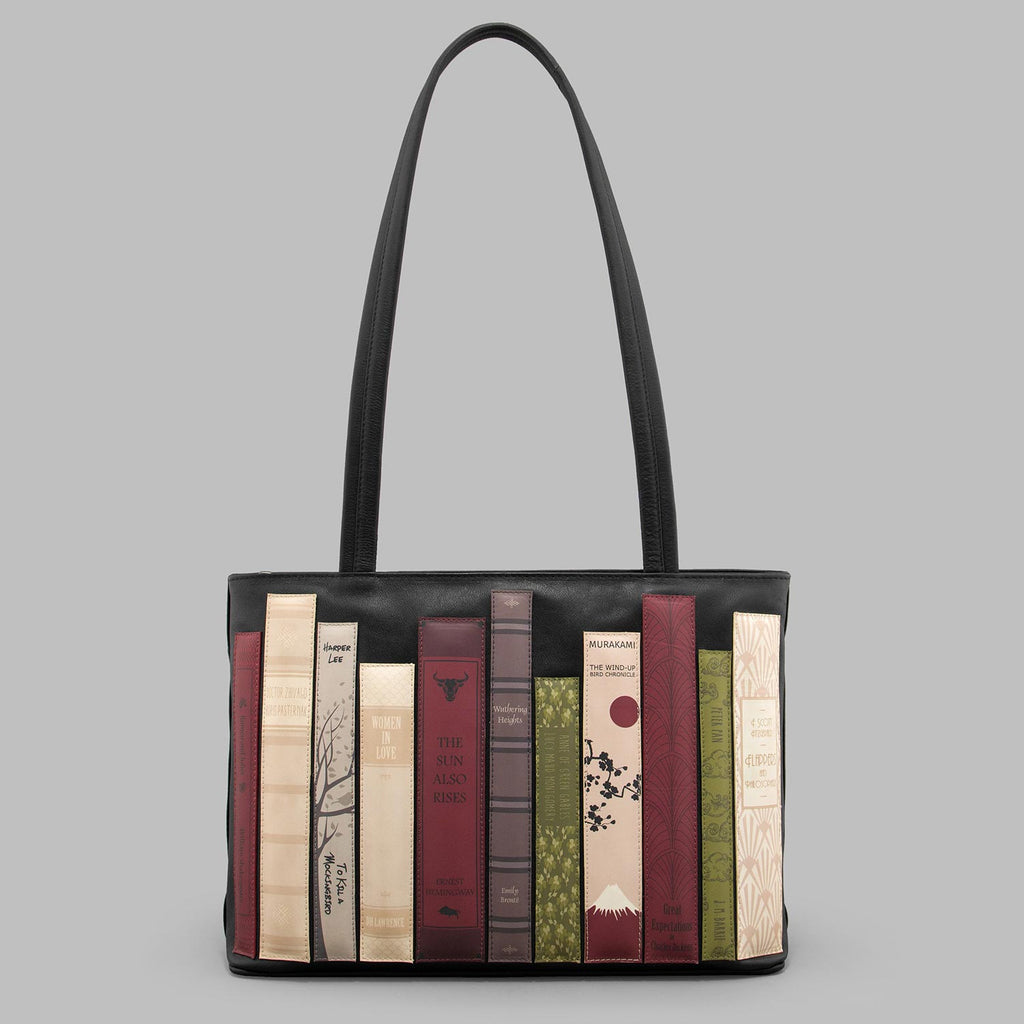 Bookworm-Black-Leather-Shoulder-Bag-Podarok