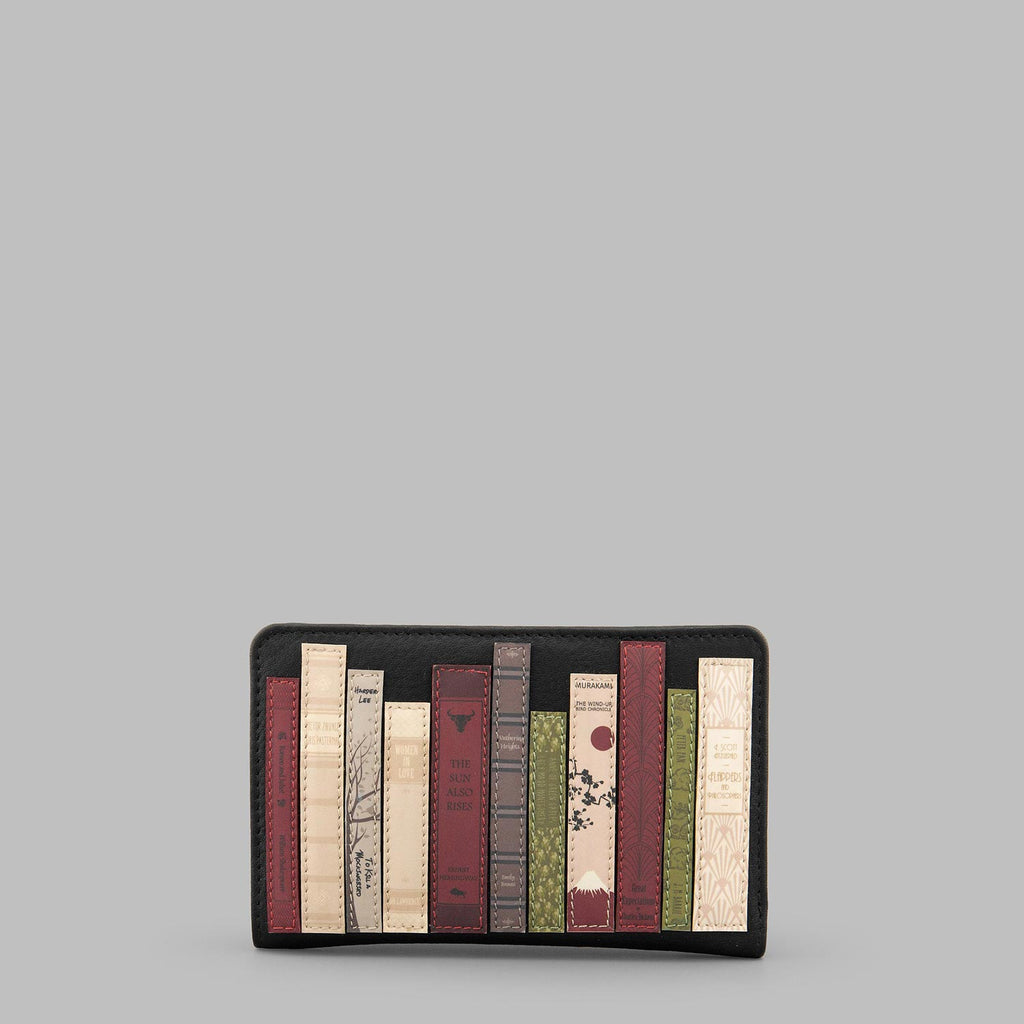 Bookworm-Black-Leather-ZipTop-Purse-Podarok