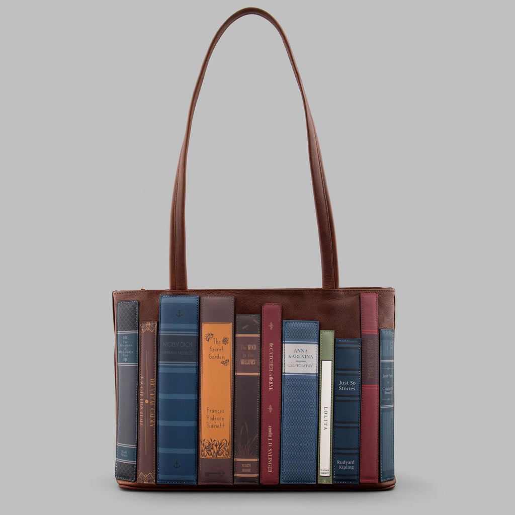 Bookworm-Library-Brown-Leather-Shoulder-Bag-Podarok