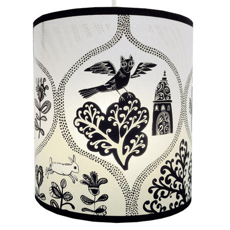 Lush Designs Cottages & Castles Lampshade Black