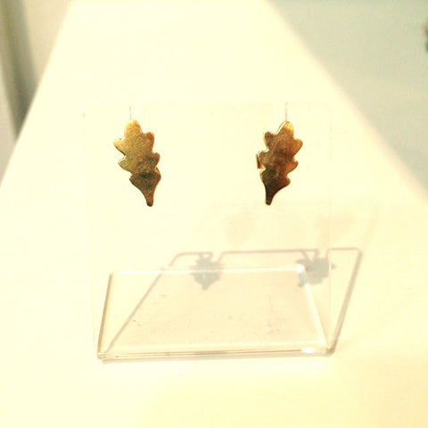 Phoebe Gold Oak Studs