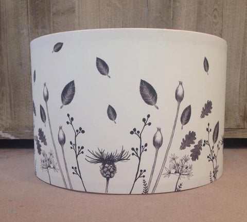 Flowers Pendant Lampshade Front View