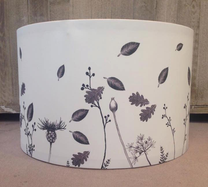 Flowers Pendant Lampshade Side View