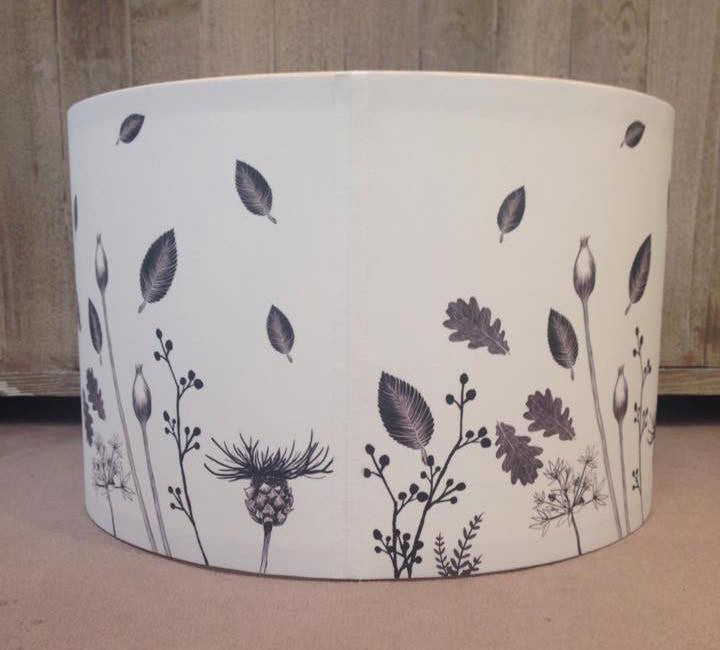 Flowers Pendant Lampshade Back View
