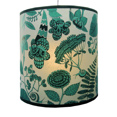 Lush Designs Turquoise Flowers Snails Lampshade