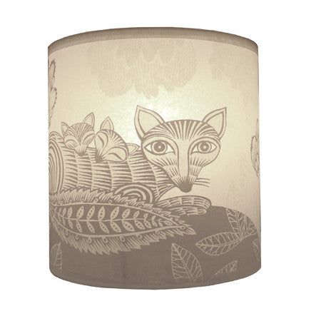 Lush Designs Fox & Cubs Lampshade Cream
