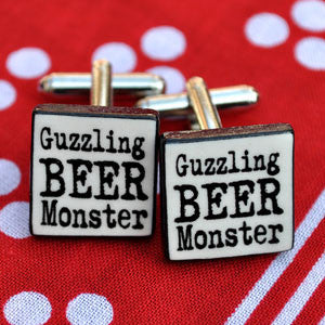Guzzling Beer Monster Cufflinks