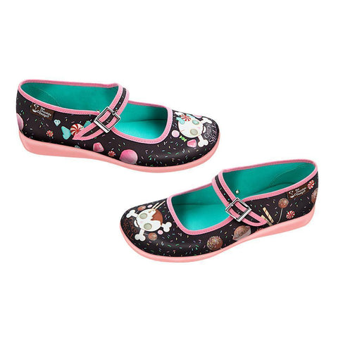 Hot Chocolate Shoes Candy Skull Chocolaticas Flat Shoes