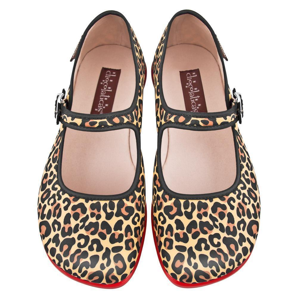Hot Chocolate Shoes Leopard Chocolaticas Flat Shoes