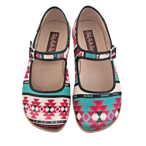 Hot Chocolate Shoes Tribal Chocolaticas Flat Shoes