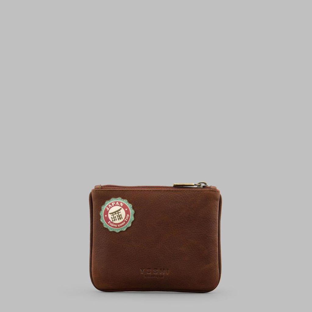 Happy-Travels-Brown-Leather-Zip-Top-Purse-Podarok