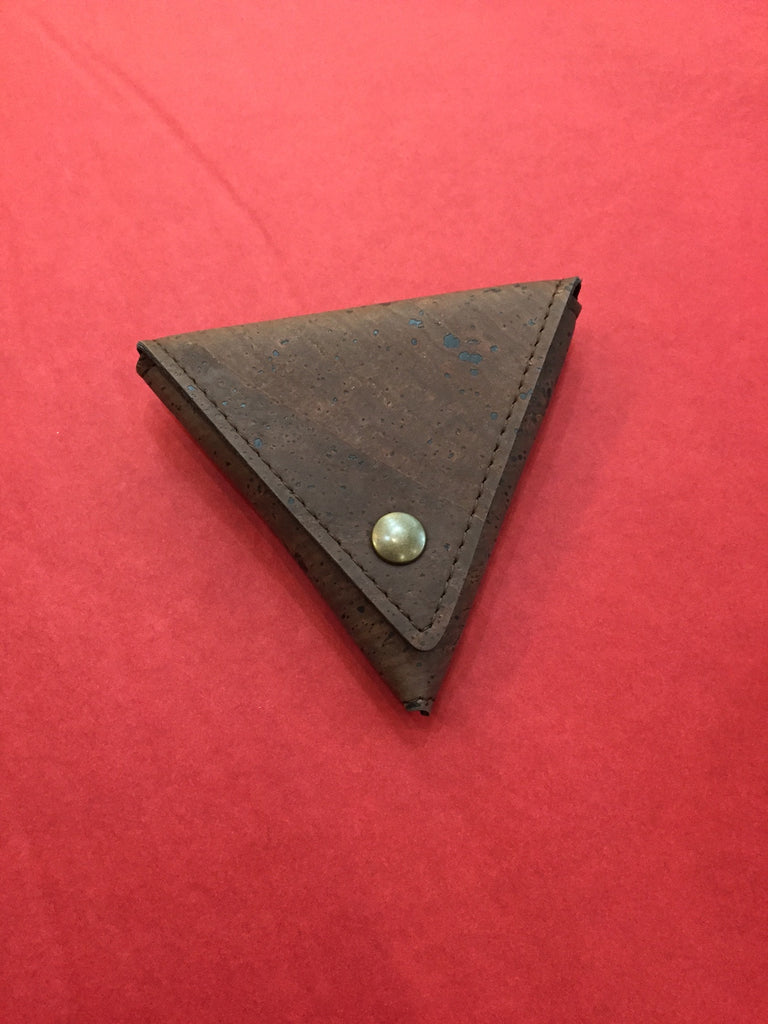Corticeira Viking Triangle Coin Purse In Brown