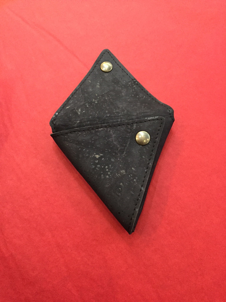 Corticeira Viking Triangle Coin Purse In Black