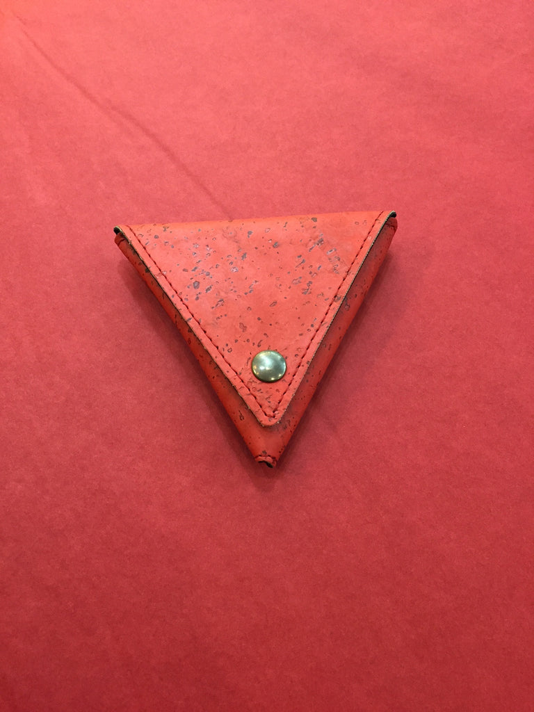 Corticeira Viking Triangle Coin Purse In Red