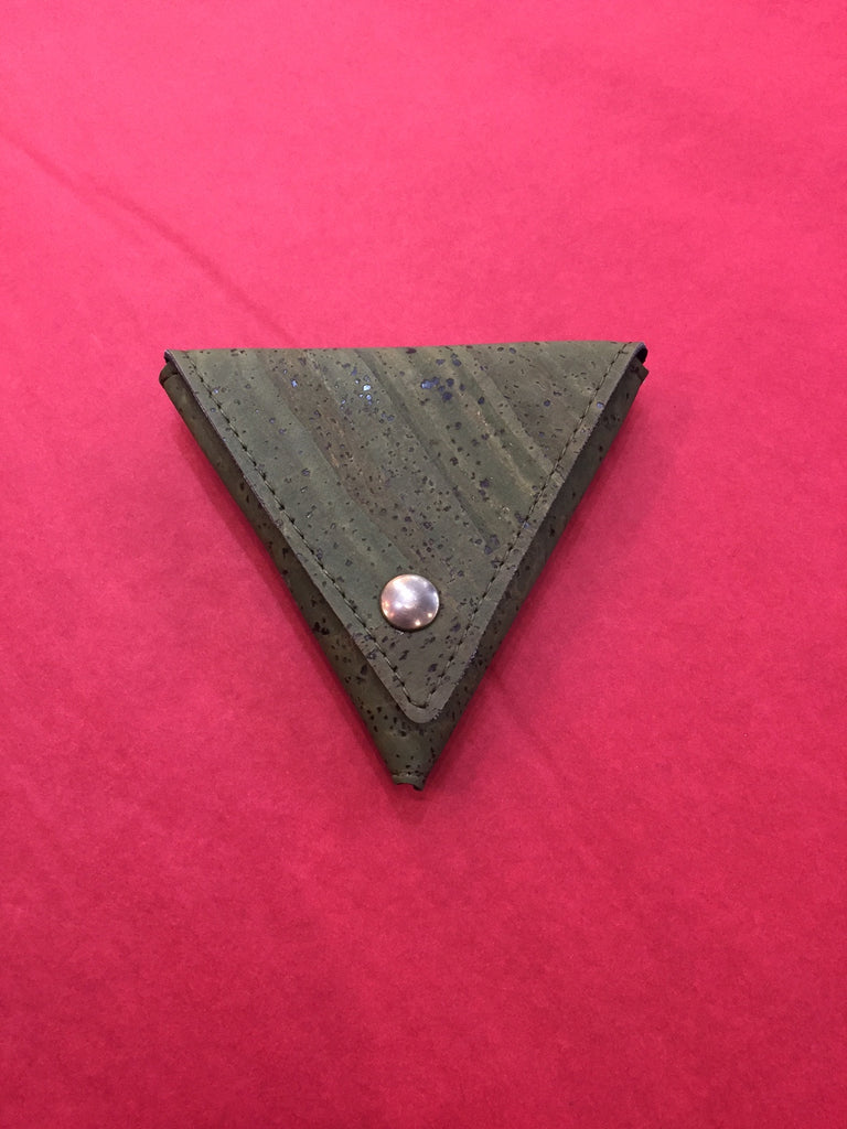 Corticeira Viking Triangle Coin Purse In Green