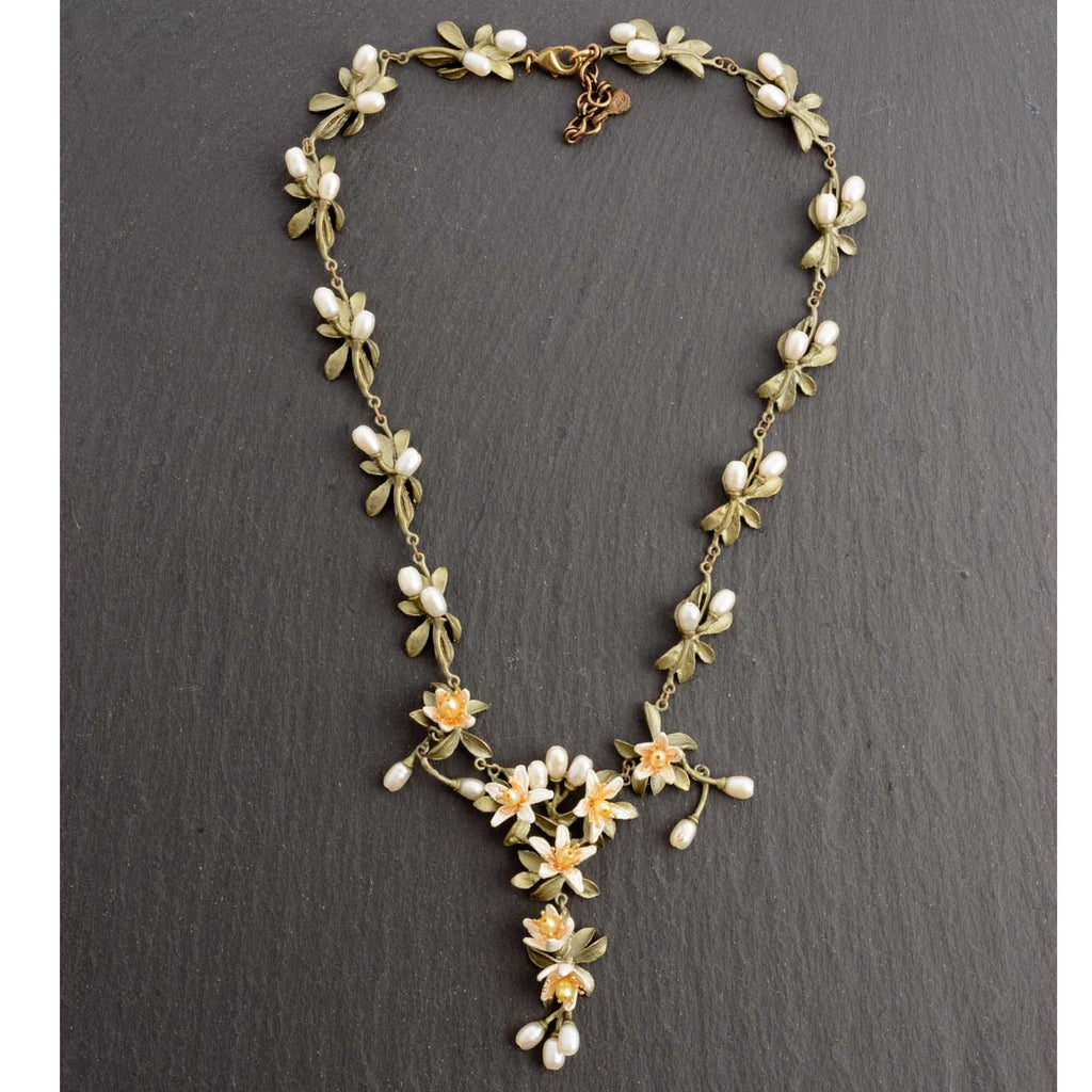 Michael Michaud Orange Blossom Statement Necklace