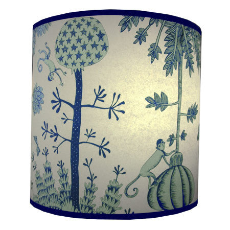 Lush Designs Monkey Lampshade Blue