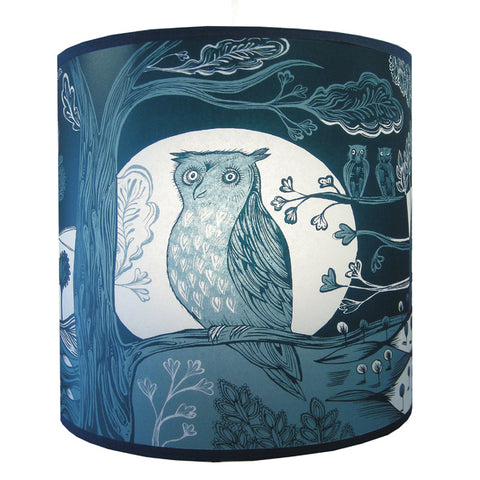 Lush Designs Owl Lampshade Blue