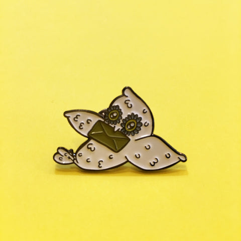 HOW Owl Mail Enamel Pin