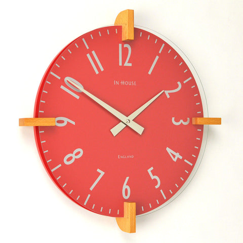 Peg Wall Clock - Red