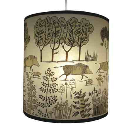 Lush Designs Wild Pig Lampshade Brown