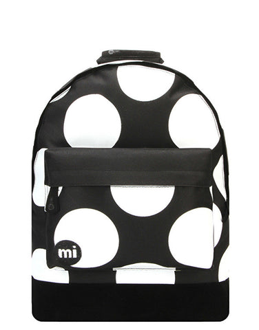 Mi-Pac XL Polkadot Black And White Backpack
