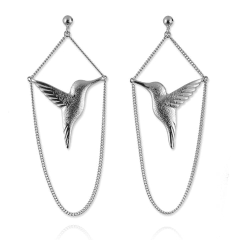 Jana Reinhardt Silver Hummingbird Earrings