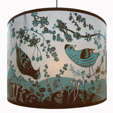 Lush Designs Siskin Lampshade Blue