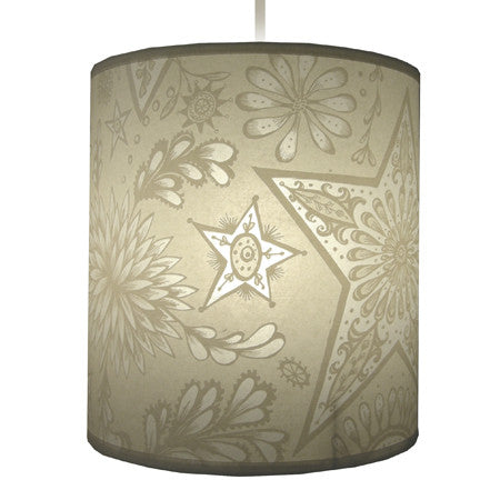 Lush Designs Stars and Flowers Lampshade Cream