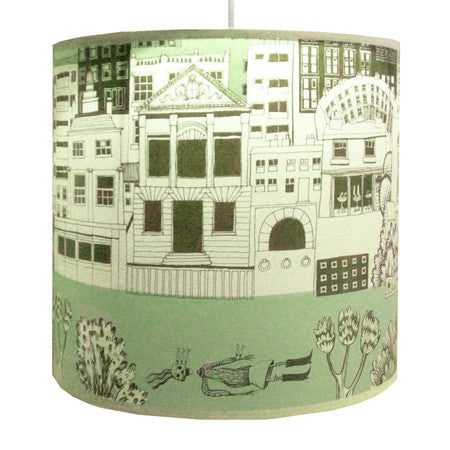Lush Designs Townscape Lampshade Green