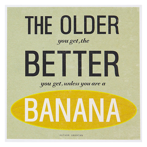 Urban Graphics Older Banana Greetings Card