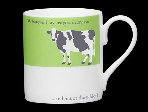 Repeat Repeat Silhouette Udder Mug In Green