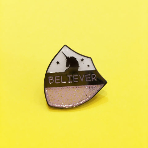 HOW Unicorn Believer Enamel Pin