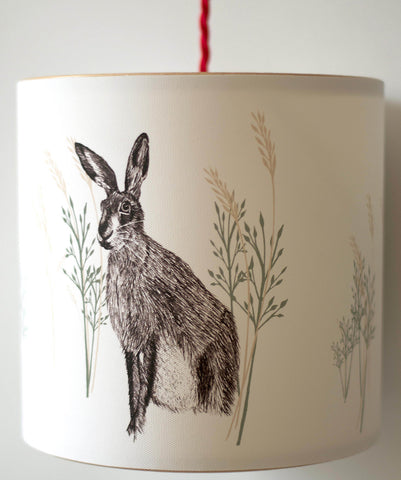 A Northern Light Wild Hare Lampshade